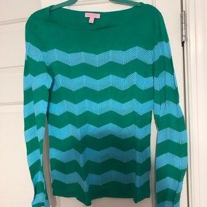 Lilly Pulitzer Chevron Boatneck Sweater